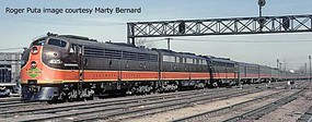 Life-Like-Proto EMD E8A-A Set - LokSound Select DCC and Sound Illinois Central 4021, 4028 (orange, brown, yellow)