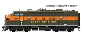 Life-Like-Proto EMD F7A DC Great Northern #365C HO Scale Model Train Diesel Locomotive #47707