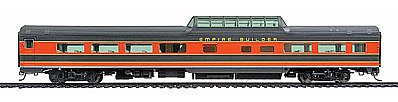 Life-Like PROTO 85' Budd 46-Seat Vista Dome Coach Great Northern -- HO Scale Model Train Passenger Car -- #9047