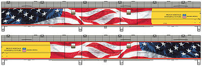 Life-Like-Proto 5 ACF Baggage Union Pacific Flag 5769 HO Scale Model Train Passenger Car #9200