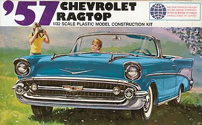 Lindberg 1957 Chevy Ragtop (Re-Issue) -- Plastic Model Car Kit -- 1/32 Scale -- #105