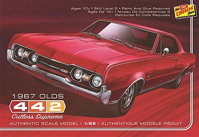 Lindberg 1967 Oldsmobile 442 -- Plastic Model Car Kit -- 1/25 Scale -- #127