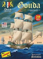Lindberg Gouda Dutch Man of War Sailing Boat Plastic Model Military Ship Kit 1/125 Scale #204