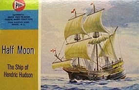 Lindberg Half Moon Sailing Ship Plastic Model Sailing Ship Kit 1/170 Scale #208
