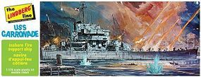 Lindberg USS Carronade Bobtail Battle Cruiser Plastic Model Military Ship Kit 1/168 Scale #403