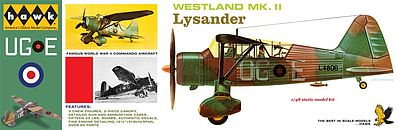Lindberg Westland Lysander Aircraft -- Plastic Model Airplane Kit -- 1/48 Scale -- #410