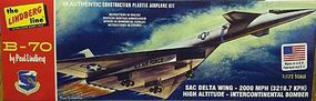 Lindberg B70 Bomber Aircraft (Re-Issue) Plastic Model Airplane Kit 1/180 Scale #413