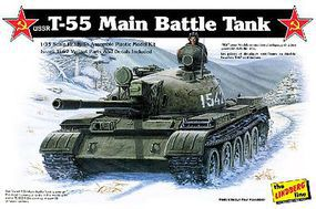Lindberg USSR T55 Tank (Re-Issue) Plastic Model Military Vehicle Kit 1/35 Scale #415