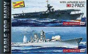 Lindberg IJN Yamato Battleship & IJN Zuikaku Plastic Model Military Ship Kit 1/1200 Scale #424