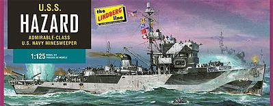 Lindberg USS Hazard Navy Mine Sweeper Plastic Model Military Ship Kit 1/125 Scale #429
