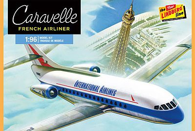 Lindberg Caravelle French Airliner Plastic Model Airplane Kit 1/96 Scale #513