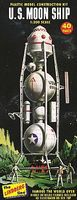 Lindberg US Moon Spaceship (Re-Issue) Science Fiction Plastic Model Ship Kit 1/96 Scale #602