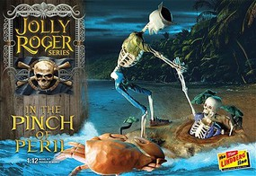 Lindberg Jolly Roger in the Pinch of Peril Skeletons & Quicksand Plastic Model Kit 1/12 Scale #612