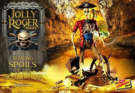 Lindberg 1/12 Jolly Roger Shining Spoils of the Scallywag Diorama- Skeletons & Treasure Chest
