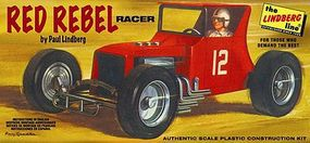 Lindberg RED REBEL RACER RACE CAR Plastic Model Car Kit #618