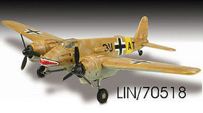 Lindberg Henschel HS-129B Military Aircraft Plane Plastic Model Airplane Kit 1/72 Scale #70518