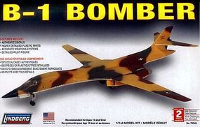 Lindberg B-1 Bomber Military Aircraft Plane Plastic Model Airplane Kit 1/144 Scale #70544