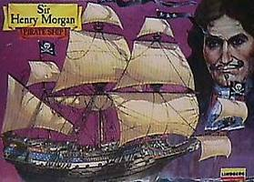 Lindberg Sir Henry Morgan Pirate Boat Plastic Model Sailing Ship Kit 1/160 Scale #70859