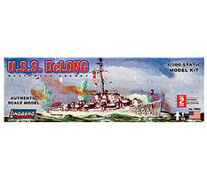 Lindberg USS DeLong Military Destroyer Escort Boat Plastic Model Sailing Ship Kit 1/300 Scale #70863