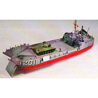 Lindberg L.C.T. Landing Craft Tank Boat Plastic Model Military Ship Kit 1/125 Scale #70867