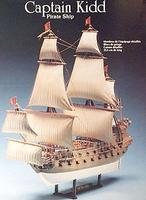 Lindberg Captain Kidd Pirate Boat Plastic Model Sailing Ship Kit 1/130 Scale #70873