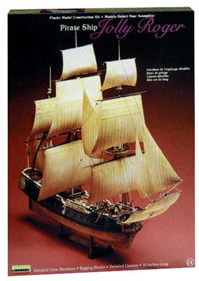 Lindberg Jolly Roger Pirate Boat -- Plastic Model Sailing Ship -- 1/130 Scale -- #70874
