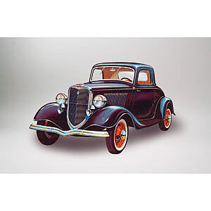 Lindberg 1934 Ford Coupe Vehicle -- Plastic Model Car -- 1/32 Scale -- #72133