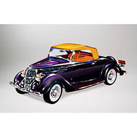 Lindberg 1936 Ford Convertible Roadster Vehicle Plastic Model Car Kit 1/32 Scale #72142