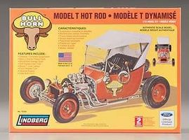 Lindberg Bull Horn Ford Model T Hot Rod Plastic Model Truck Kit 1/16 Scale #72320