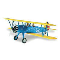 Lindberg Stearman PT17 BiPlane Aircraft Plastic Model Airplane Kit 1/48 Scale #72582