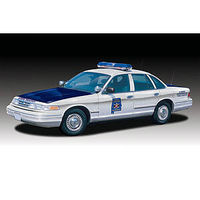 Lindberg Ford Crown Vic AL State Police Prepainted Cop Plastic Model Car Kit 1/25 Scale #72780