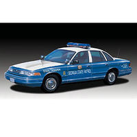 Lindberg Ford Crown Vic GA State Police Prepainted Cop Plastic Model Car Kit 1/25 Scale #72781