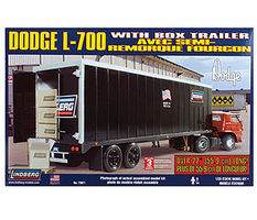 Lindberg Dodge L700 Tilt Cab w/Box Trailer Semi Plastic Model Truck KIt 1/25 Scale #73071