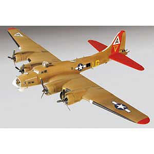 Lindberg B-17 Super Fortress Military Aircraft -- Plastic Model Airplane Kit -- 1/64 Scale -- #75309