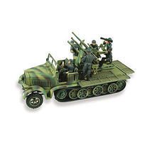 Lindberg German 8Ton 1/2 Track Weapons Carrier Plastic Model Military Vehicle Kit 1/72 Scale #76086