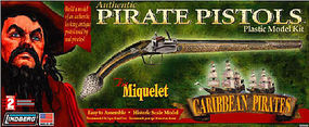Lindberg Miquelet Pistols Gun Pirate Plastic Model Kit #78006