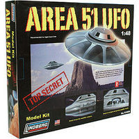 Lindberg Area 51 UFO Alien Martian Science Fiction Plastic Model Kit 1/48 Scale #91006