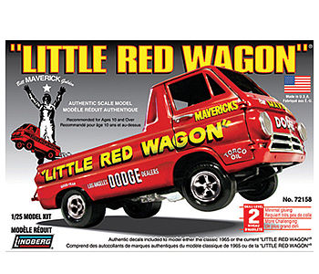 Lindberg Little Red Wagon -- Plastic Model Truck Kit -- 1/25 Scale -- #hl115-12