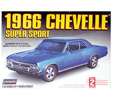Lindberg 1966 Chevelle Plastic Model Car Kit 1/25 Scale #hl117-12