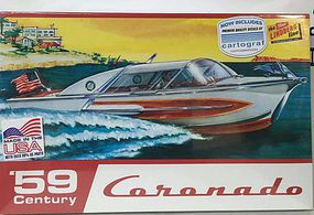 Lindberg 1959 Century Coronado Boat Plastic Model Ship Kit 1/25 Scale #hl221-12