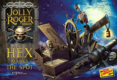 Lindberg Jolly Roger Series Hex Marks the Spot Plastic Model Kit 1/12 Scale #hl224-12