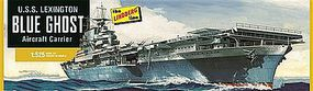Lindberg USS Lexington Aircraft Carrier Plastic Model Military Ship Kit 1/525 Scale #hl436-12