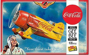 Lindberg Coca Cola Gee Bee Racer Plastic Model Airplane Kit 1/32 Scale #hl515-12