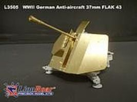 Lion-Roar 1/35 WWII German 37mm Flak 43 Anti-Aircraft Gun (Plastic Kit)