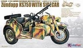 Lion-Roar 1/35 WWII German Zundapp KS750 Motorcycle w/Sidecar (Plastic Kit)