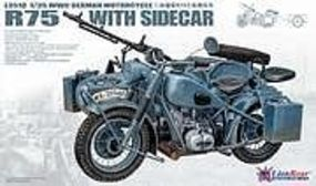 Lion-Roar 1/35 WWII German BMW R75 Motorcycle w/Sidecar (Plastic Kit)
