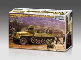 Lion-Roar 1/35 WWII German General Version Heavy Cargo Halftrack (sWS) w/5 Crew (Plastic Kit)