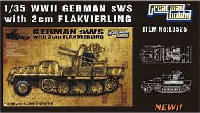 Lion-Roar 1/35 WWII German sWS w/2cm FlaK Gun (Plastic Kit)