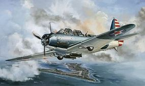 Lion-Roar 1/48 TBD1 Devastor VT6 Fighter Wake Island 1942 (Plastic Kit)