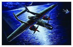 Lion-Roar 1/48 WWII USAAF P61B Black Widow Aircraft Last Shoot Down 1945 (Plastic Kit)